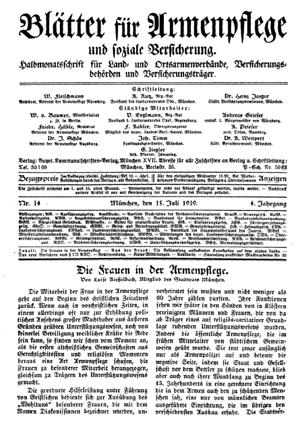 Die Frauen in der Armenpflege von Luise Kiesselbach, Juli 1919