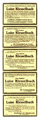 Todesanzeigen, 1919