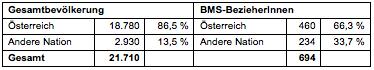 Tabelle 3: Nationalität (vgl. BH Bruck-Mürzzuschlag 2013)