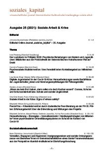 Inhaltsverzeichnis Ausgabe 25 (2021)